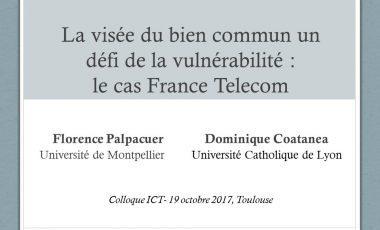 La visée du bien commun un défi de la vulnérabilité : le cas France Telecom