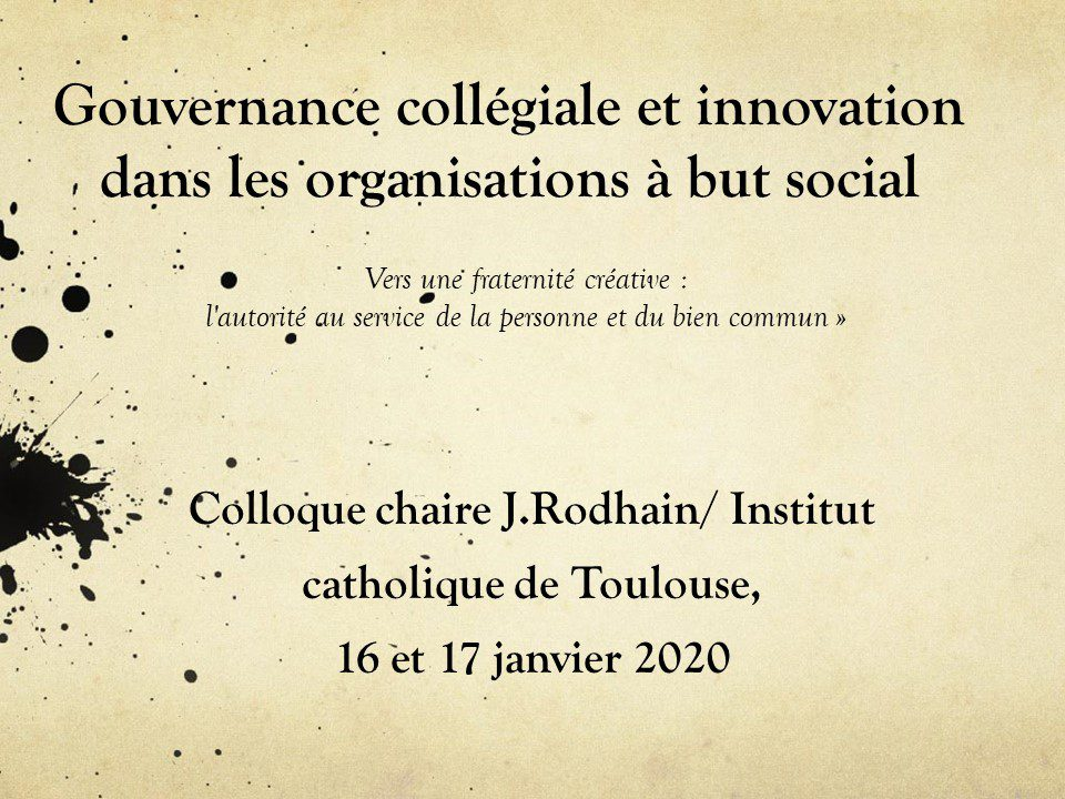 colloque collegialite