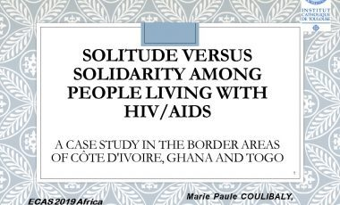 Solitude versus solidarity among people living with HIV/AIDS – ECAS 2019